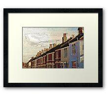 Textured Houses Framed Print
