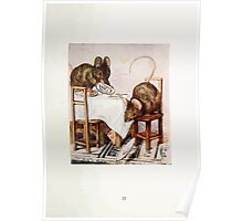 The Tale of Two Bad Mice Beatrix Potter 1904 0039 Fake Ham Broke off the Plate Poster