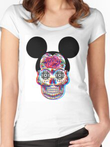Mickey Skullduggery Women's Fitted Scoop T-Shirt