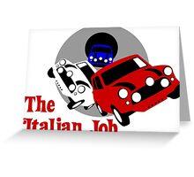 The Italian Job Mini Coopers Greeting Card