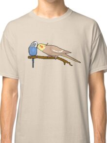 Pixel / 8-bit Parrot: Budgie and Cockatiel Classic T-Shirt