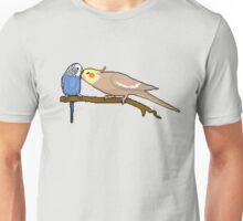 Pixel / 8-bit Parrot: Budgie and Cockatiel Unisex T-Shirt