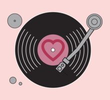 Groovy Pink Record Player One Piece - Long Sleeve