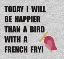 Bird With French Fry Kids Clothes