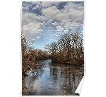 Skunk River in the morning Poster