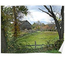 A Typically Rural and Bucolic Rhode Island Farm - Autumn Poster