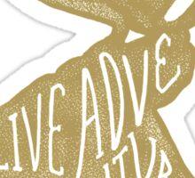 Live Adventurously Sticker