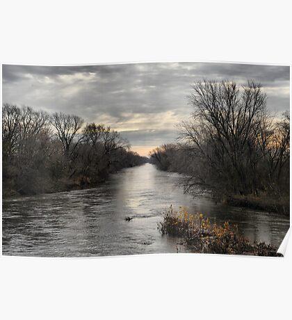 Skunk River Running Fast Poster