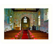 Interior of St John Church Art Print