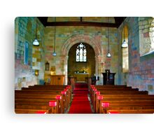 Interior of St John Church Canvas Print