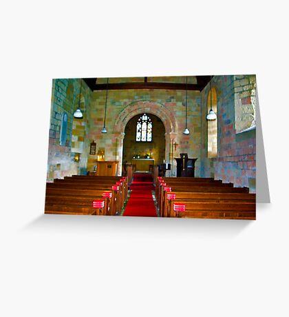 Interior of St John Church Greeting Card