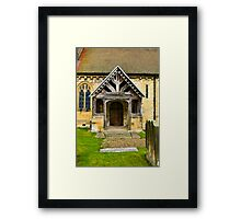 The Entrance Door St John's Church. Framed Print