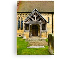 The Entrance Door St John's Church. Canvas Print