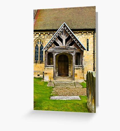 The Entrance Door St John's Church. Greeting Card