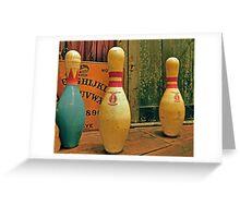 Ouija Bowling Greeting Card