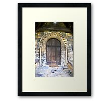 Wooden Church Door Framed Print