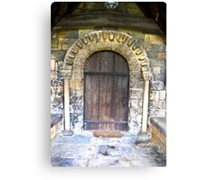 Wooden Church Door Canvas Print
