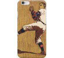 Vintage Baseball illustration iPhone Case/Skin