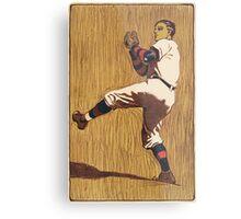 Vintage Baseball illustration Metal Print