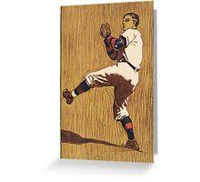 Vintage Baseball illustration Greeting Card