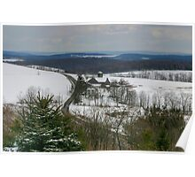 Pennsylvania Farmland Under A Blanket Of Snow Poster