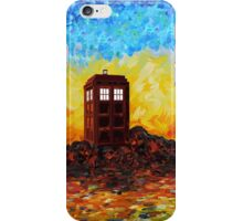 Time travel Phone booth in the Twilight zone art painting iPhone Case/Skin