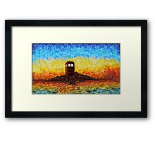 Time travel Phone booth in the Twilight zone art painting Framed Print