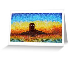 Time travel Phone booth in the Twilight zone art painting Greeting Card