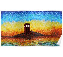 Time travel Phone booth in the Twilight zone art painting Poster