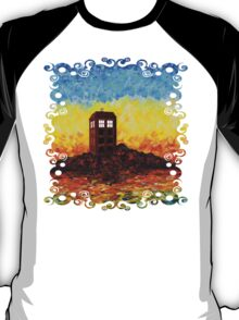 Time travel Phone booth in the Twilight zone art painting T-Shirt