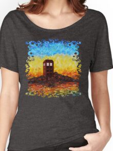 Time travel Phone booth in the Twilight zone art painting Women's Relaxed Fit T-Shirt