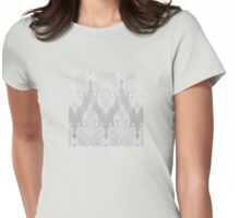 Lace & Shadows 2 - Monochrome Moroccan doodle Womens Fitted T-Shirt
