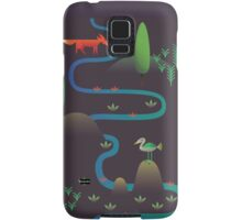 Landscape - Fox and Stream 2 (Pattern) Samsung Galaxy Case/Skin