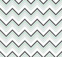 Mint Gray Chevrons by DoucetteDesigns