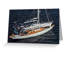 Two Yachts Greeting Card
