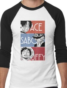 ASL - Ace Sabo Luffy - Brothers  Men's Baseball ¾ T-Shirt