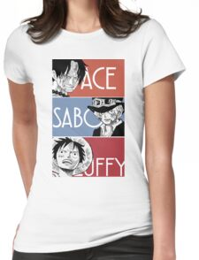 ASL - Ace Sabo Luffy - Brothers  Womens Fitted T-Shirt