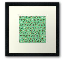 Food pattern vector Framed Print