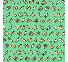 Food pattern vector Photographic Print