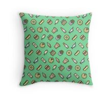 Food pattern vector Throw Pillow