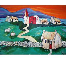 Sheep Village - pretty irish Photographic Print