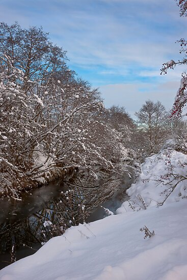 River Dearne Snow by picturistic
