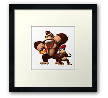 Diddy and donkey kong Framed Print