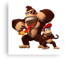 Diddy and donkey kong Canvas Print