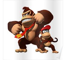 Diddy and donkey kong Poster