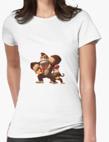Diddy and donkey kong Womens Fitted T-Shirt