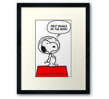 Snoopy in Space Framed Print