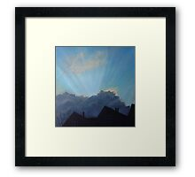 Will it pass us by? Framed Print