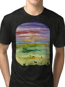 Black cats T option 2 Tri-blend T-Shirt