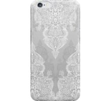 Lace & Shadows 2 - Monochrome Moroccan doodle iPhone Case/Skin